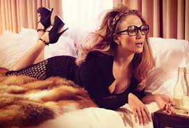 JLo in glasses